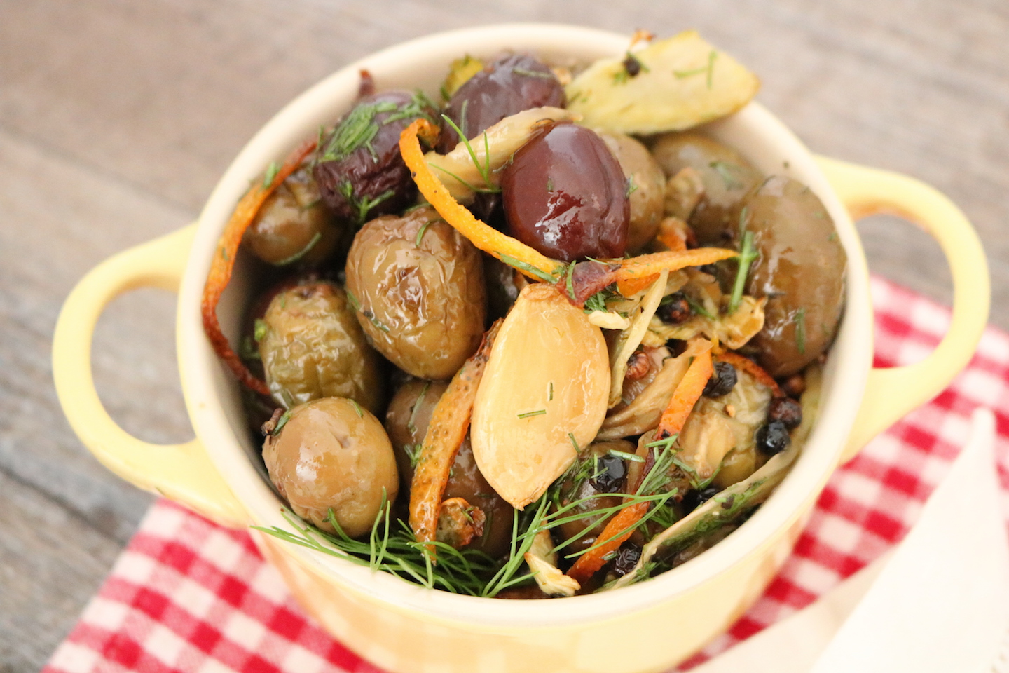 Olinda Olives Recipe Bistro Blend Roasted Olives with Orange Fennel Garlic Warm Olives