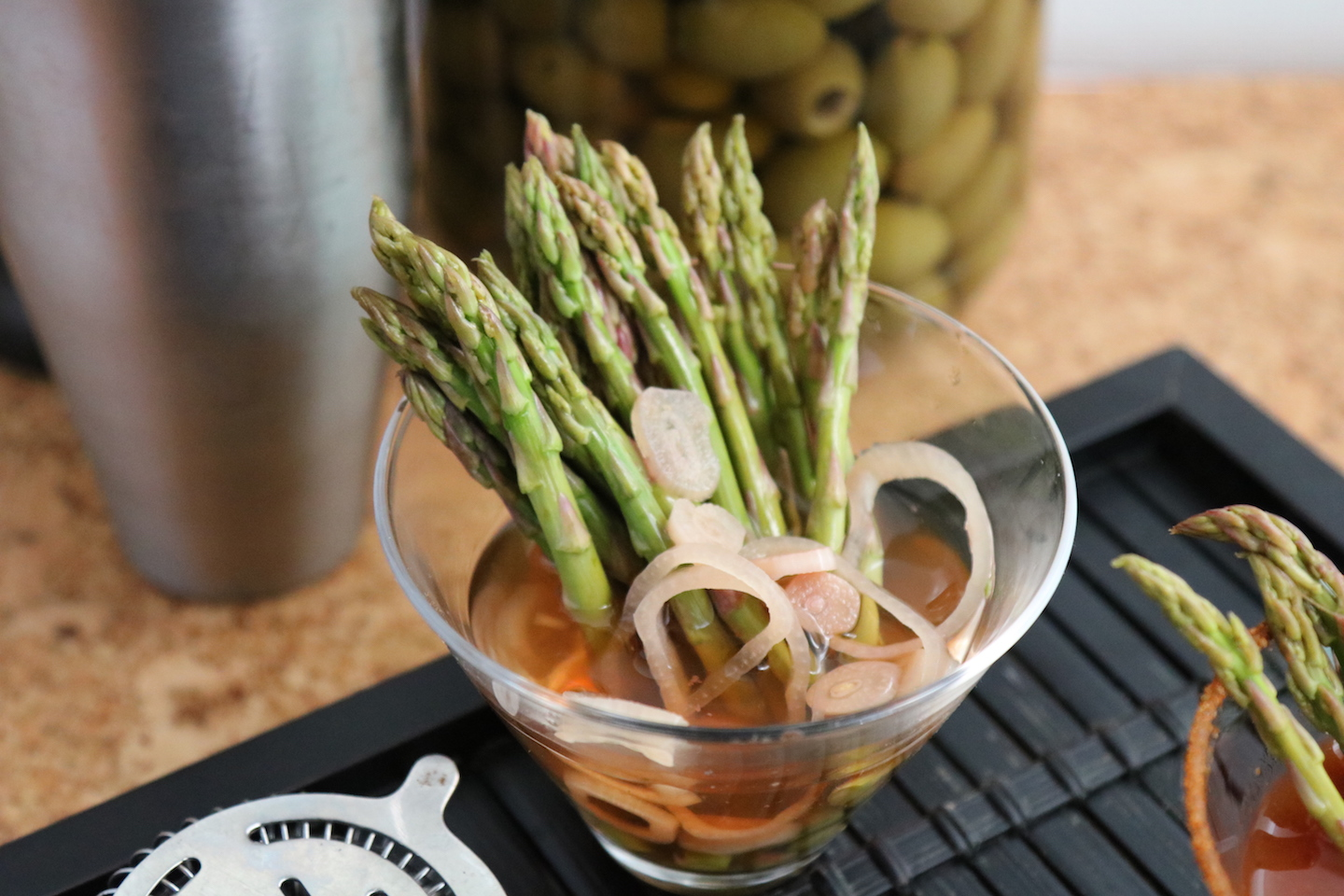Olinda REcipe Olive Brine Pickled Asparagus
